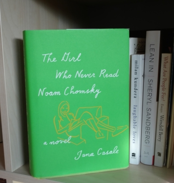 "A photo of the book ""The Girl Who Never Read Noam Chomsky."