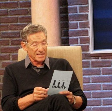 "A picture of Maury, talkshow host, stating, ""That was a Lie""."