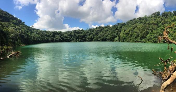 A view of the Cerro Chato laguna.