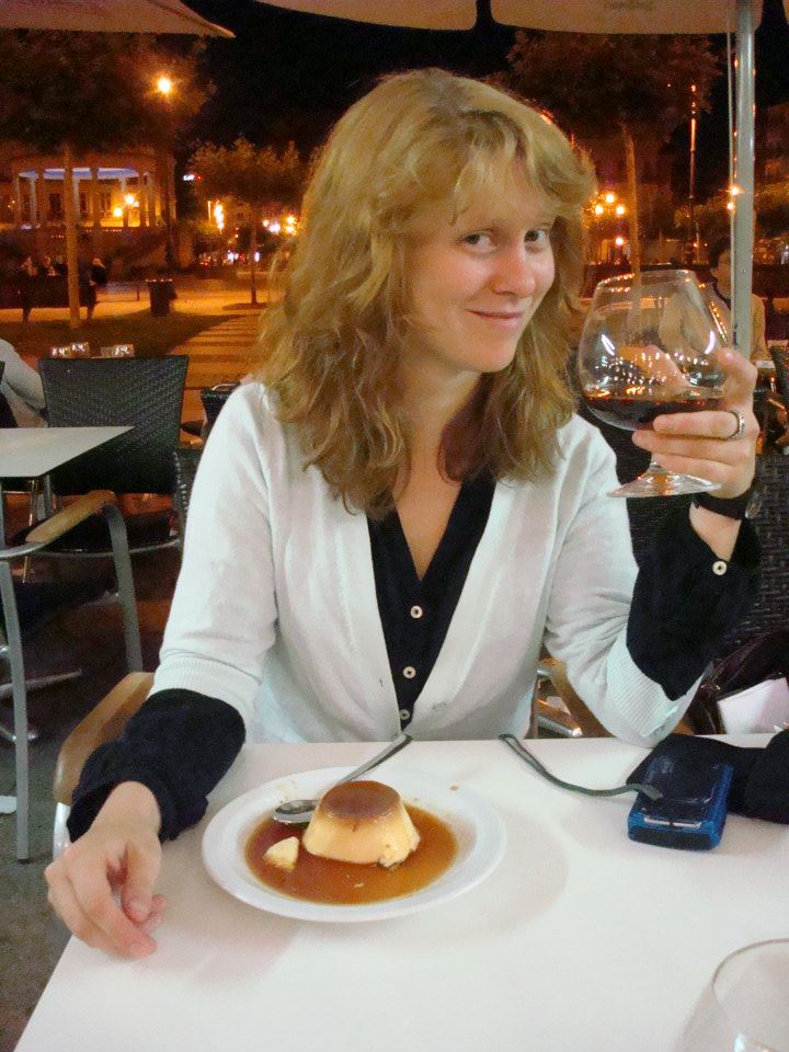 Drinking brandy at the Cafe Iruna.