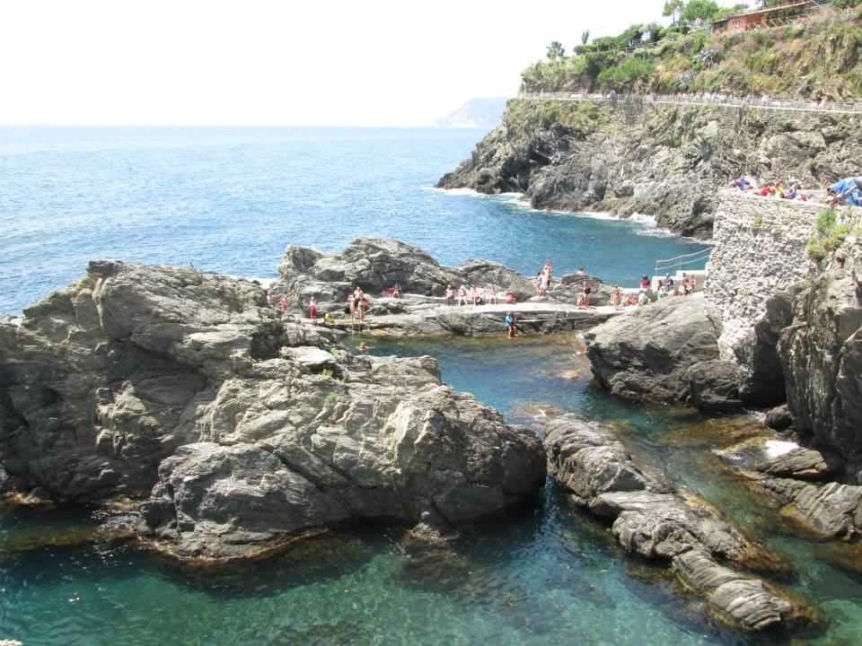 The inlet cove in Manarola Cinque Terre, Italy.