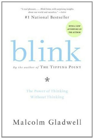 Book cover for Blink by Malcolm Gladwell.