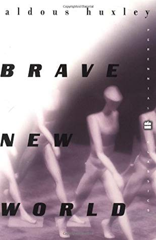 Book cover for Brave New World by Aldous Huxley.