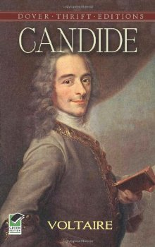 Candide by Voltaire.