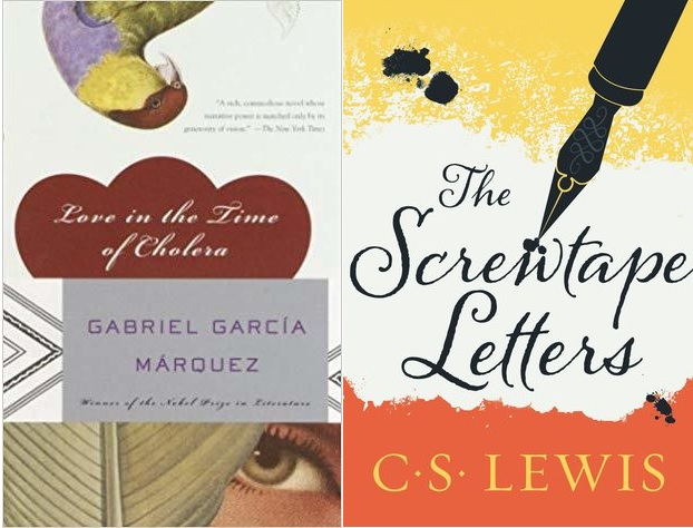 Love in the Time of Cholera vs. The Screwtape Letters.