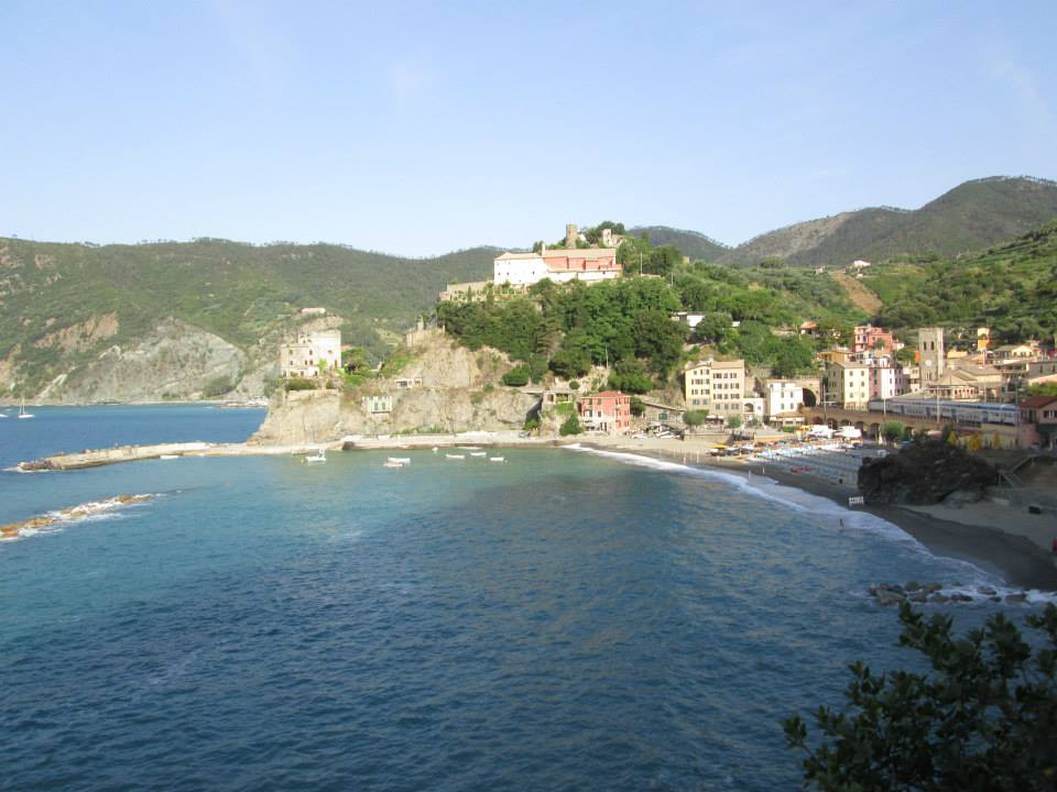 The view of Monterosso from the Cinque Terre footpath to Vernazza.