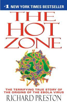 A book cover for The Hot Zone by Richard Preston
